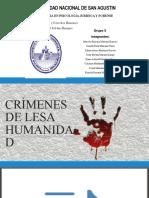 CRÍMENES DE LESA HUMANIDAD Y POLITICAS DE REPARACION