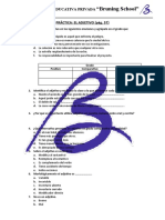 9. práctica - el adjetivo