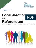 Electoral Commission Referendum 2011 UK Booklet
