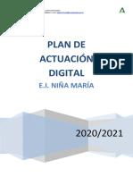 Plan de Actuacion Digital Nina Maria.