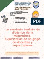 La Corriente Realista de Didáctica de La Matemática.