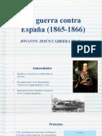 La guerra contra España (1865-1866)
