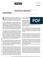 Static Marketing Versus Dynamic Marketing[1]