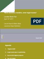 Digital Publishing:new business models, new legal issues. :