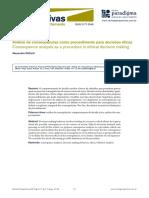 Analise de Consequencias Como Procedimento Para Decisoes Eticas
