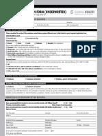 Global Health Employee Application Form (Underwritten)