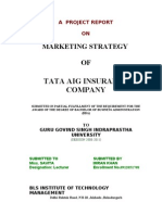 TATA AIG INSURANCE COMPANY MARKETING STRATEGIES