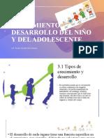 CRECIMIENTO Y DESARROLLO DEL NIÑO Y DEL ADOLESCENTE