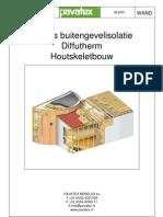 Diffutherm constuctie details - houtskeletbouw