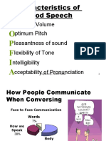 Speech training