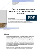 0809 Padrões de sustentabilidade aplicados ao processo de projeto