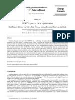 Optimization of SEGWS Process Cycle
