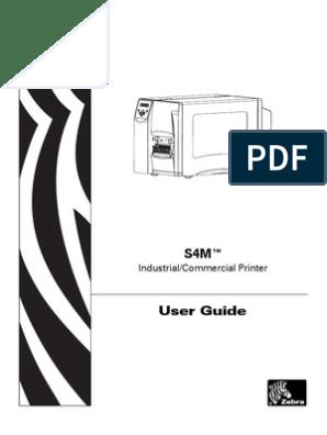 Zebra S4M User Manual   Printer (Computing)   Computer Network