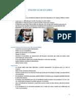 Política de Examen PAO II 2021