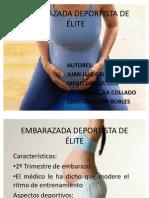 EMBARAZADA DEPORTISTA DE ÉLITE