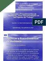 Técnicas y Procedimientos de Auditoría-Papeles de Trabajo-nueva versión-2010-A-
