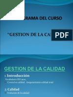 Diapositivas sobre Gestion de la calidad