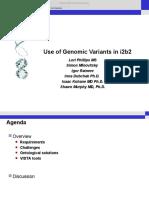 Lori Phillips - Use of Genomic Variants in i2b2