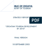 croatia - ministry of tourism strtegy report