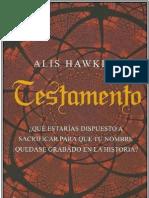 Hawkins, Alis - Testamento