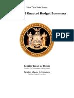 SFY 201-12 Budget Summary Final