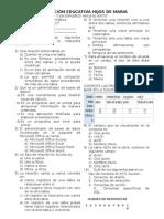 Examen de Informática 4 periodo