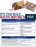 2011-12 School Immunization Requirements Flyer