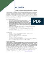 Centura Health Strategic Communications Internship Program