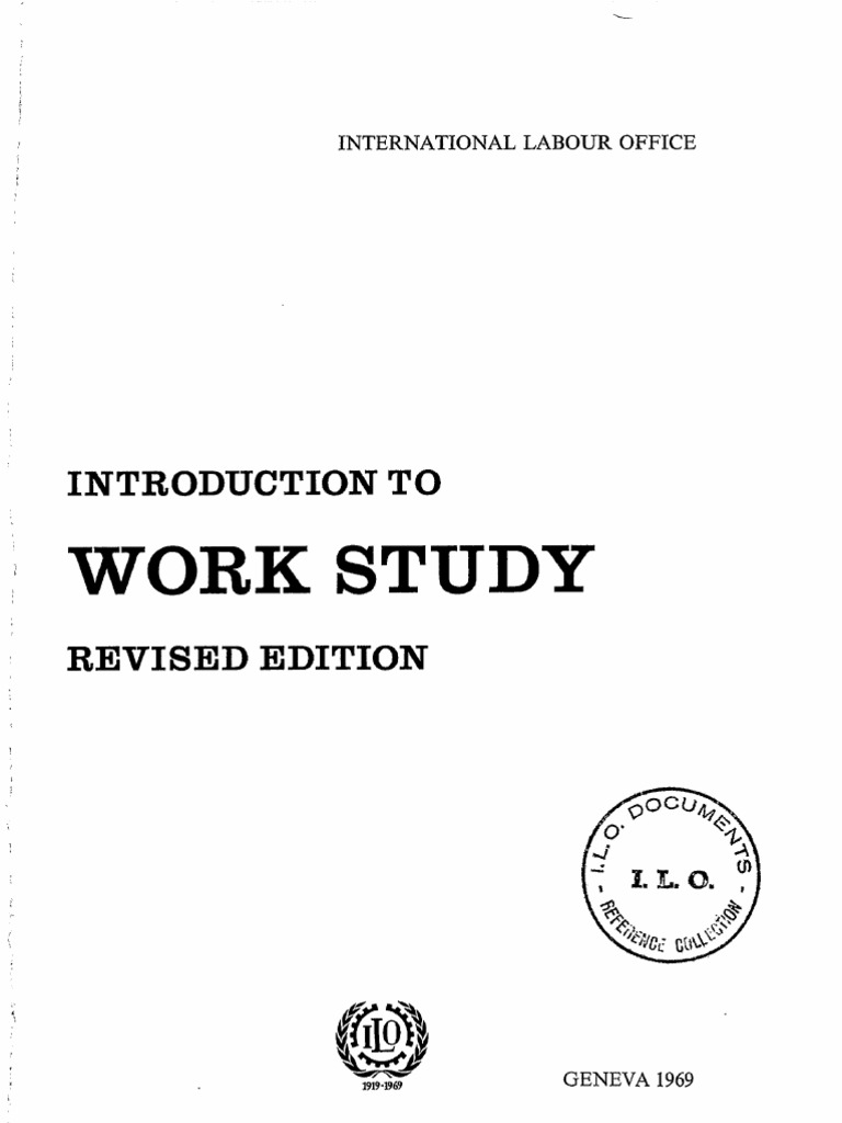 Introduction To Work Study By George Kanawaty Ebook
