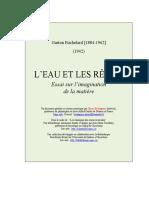 l Eau Et Les Reves - Essai Sur l Imagination de La Matiere - Bachelard (229 Pages - 1,6 Mo)