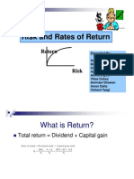 Risk and Rates of Returns (FM Ppt) by Vikas