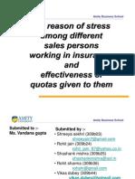 Stress Among Salespersons (SM FINAL PPT) by Vikas