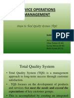Steps on Tqm (Service Operations Management) by Vikas