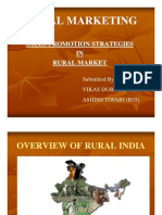 Sale Promotion Strategies in RURAL MARKETING by Vikas