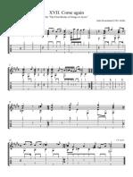 XVII Come again original - Full Score