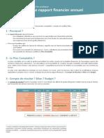 Fiche 8 Rapport Financier