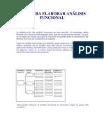 Guia elaborar analisis funcional