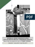 NOVENA AL CORAZÓN DE JESUS POR LA INTERCESION DE LOS SANTOS, BEATOS Y VENERABLES JESUITAS.