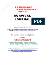 SURVIVAL JOURNAL Hebrews Chapter 8 a Way of Life 12.4