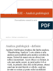 GRAFOLOGIE – Analiză grafologică