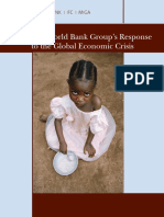 The World Bank Group's Response to the Global Economic Crisis