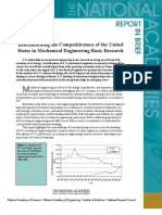 Benchmarking the Competitiveness of the United States in Mechanical Engineering Basic Research, Report In Brief