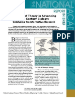 The Role of Theory in Advancing 21st Century Biology, Report In Brief