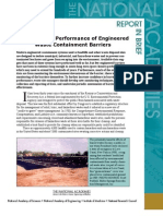 Assessment of the Performance of Engineered Waste Containment Barriers, Report In Brief