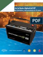 Datasheet baterías Alpha 12V