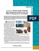 Scientific Review of the Proposed Risk Assessment Bulletin from the Office of Management and Budget, Report in Brief