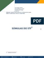 Súmulas Do STF Separadas Por Assunto (Atualizado Até 20-01-2017).