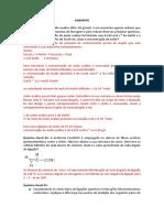 Resolução Questões de Químicas