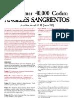 FAQ - Codex Blood Angels 5th Edition