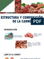 Estructura y Composición de La Carne